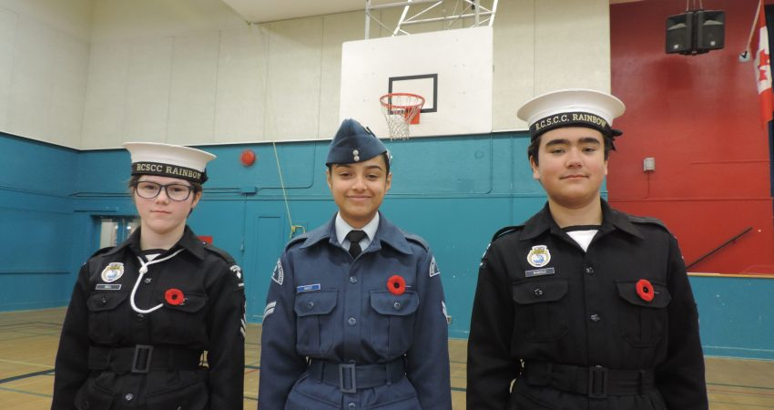 Proud to be part of our Remembrance Day Ceremony.