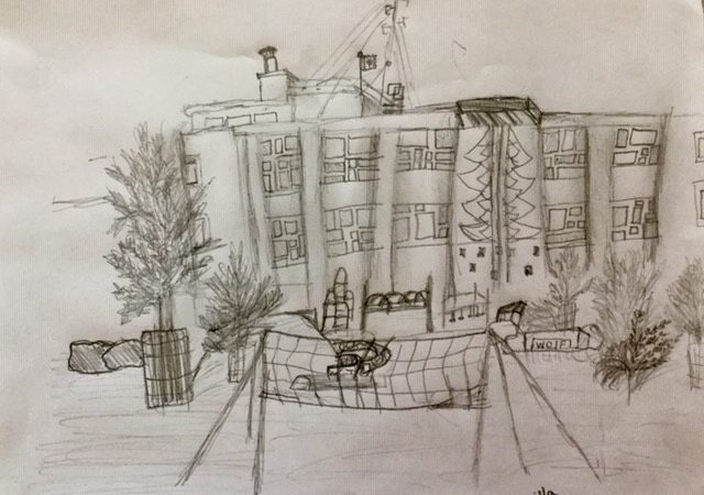 Central Middle School – Sketch by Kamilla from Outdoor Sketching Enrichment
