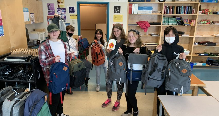 Ready for delivery – Backpacks for the Homeless