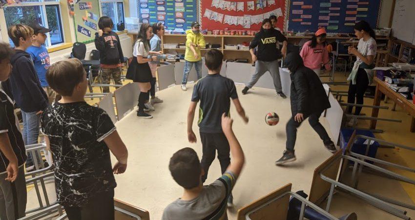 Classroom soccer…
